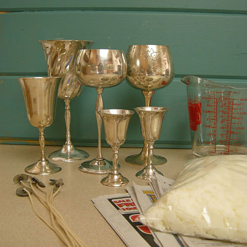 Easy craft project: Make goblet candles