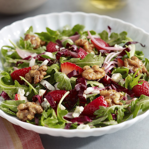 Arugula, Strawberry & Walnut Salad