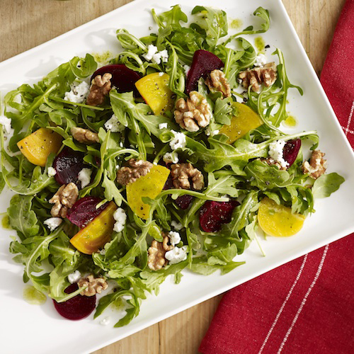 Beet, Goat Cheese & Walnut Salad