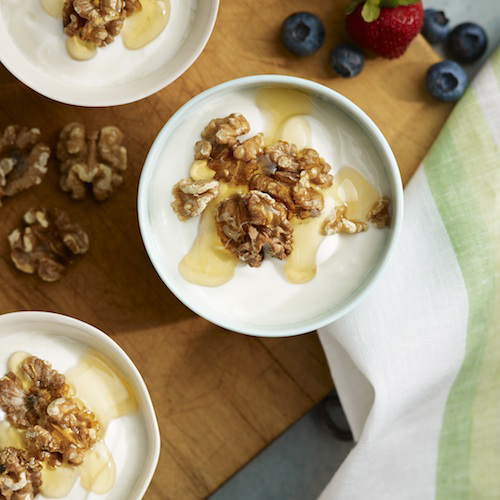Greek Yogurt with Walnuts & Honey