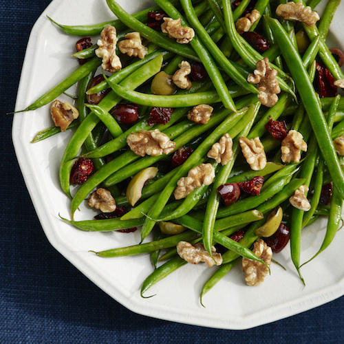 Green Beans with Olives, Tomatoes & Walnuts