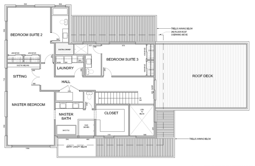 2015 Sunset Idea House Floor Plan - Second Floor