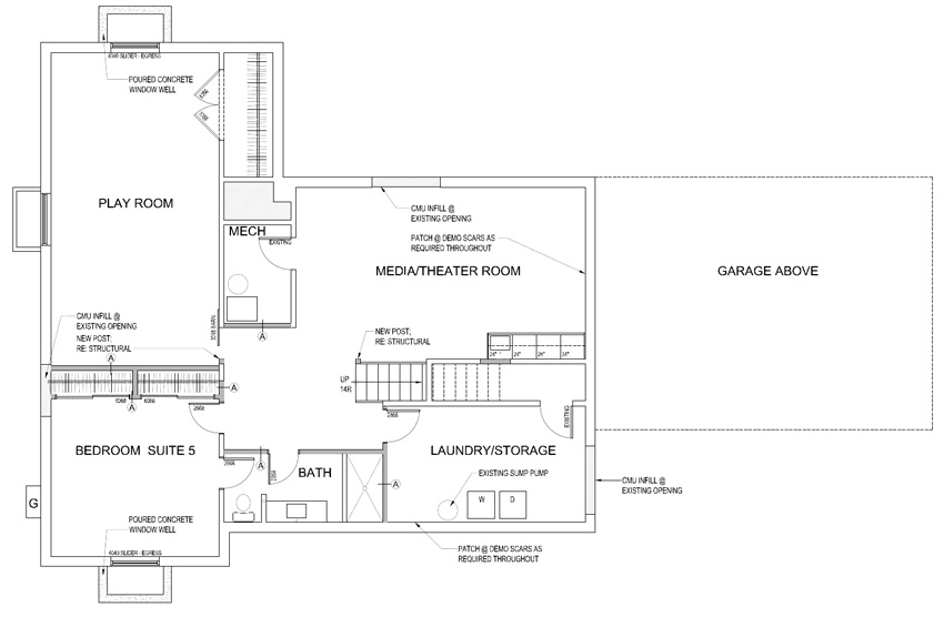 2015 Sunset Idea House Floor Plan - Basement