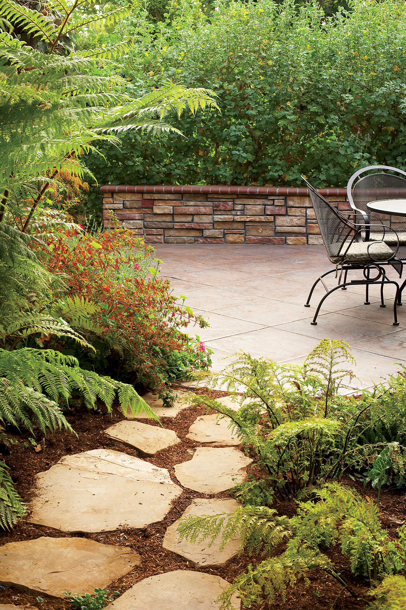 Flagstone Landscaping. Easy Patio Entry Flagstone Landscaping