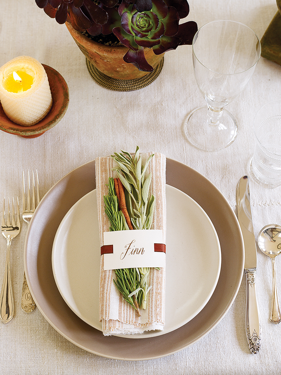 Timeless place settings & 10 Creative Fall Tabletop Ideas - Sunset Magazine