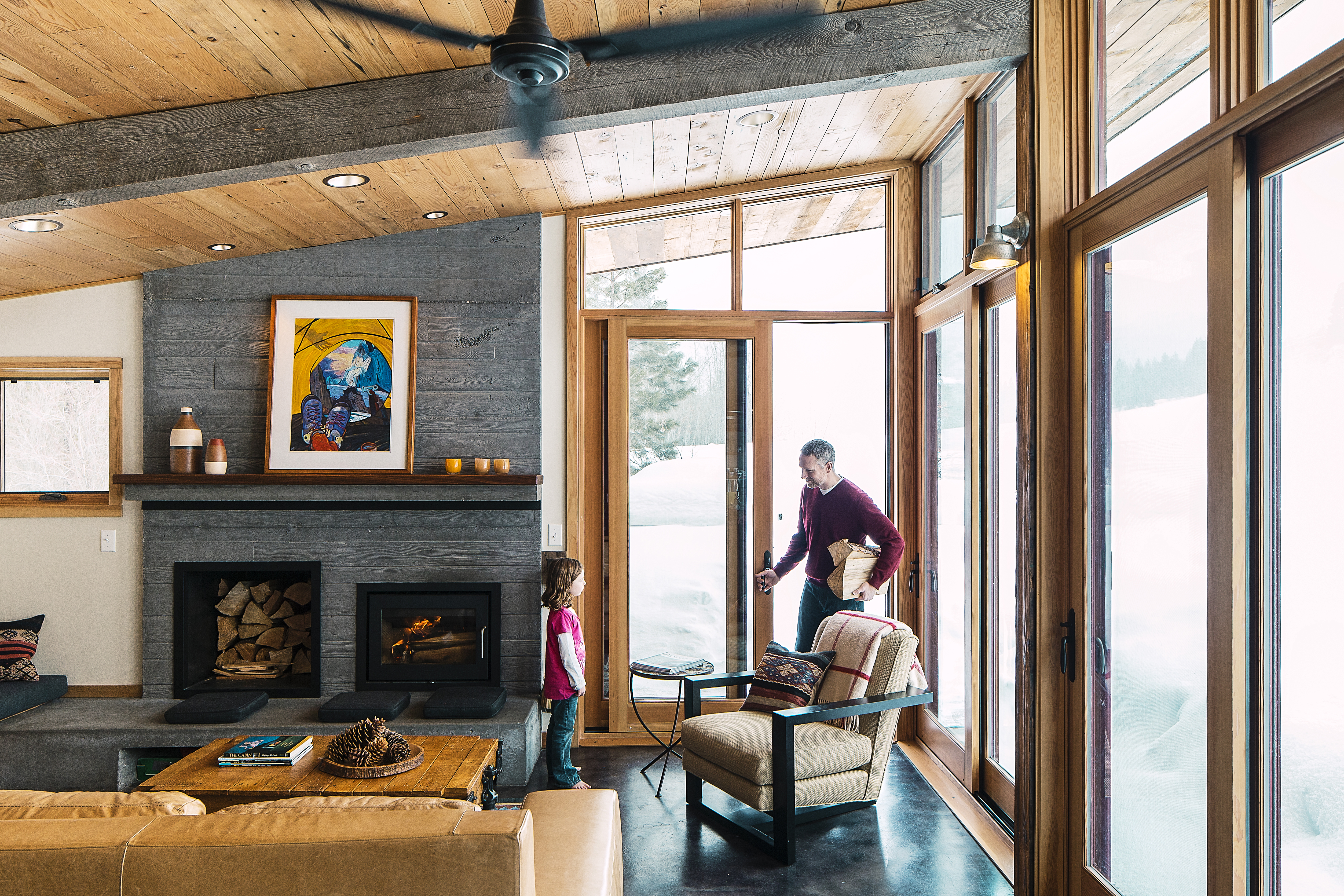 Recycled Cabin: Living Room