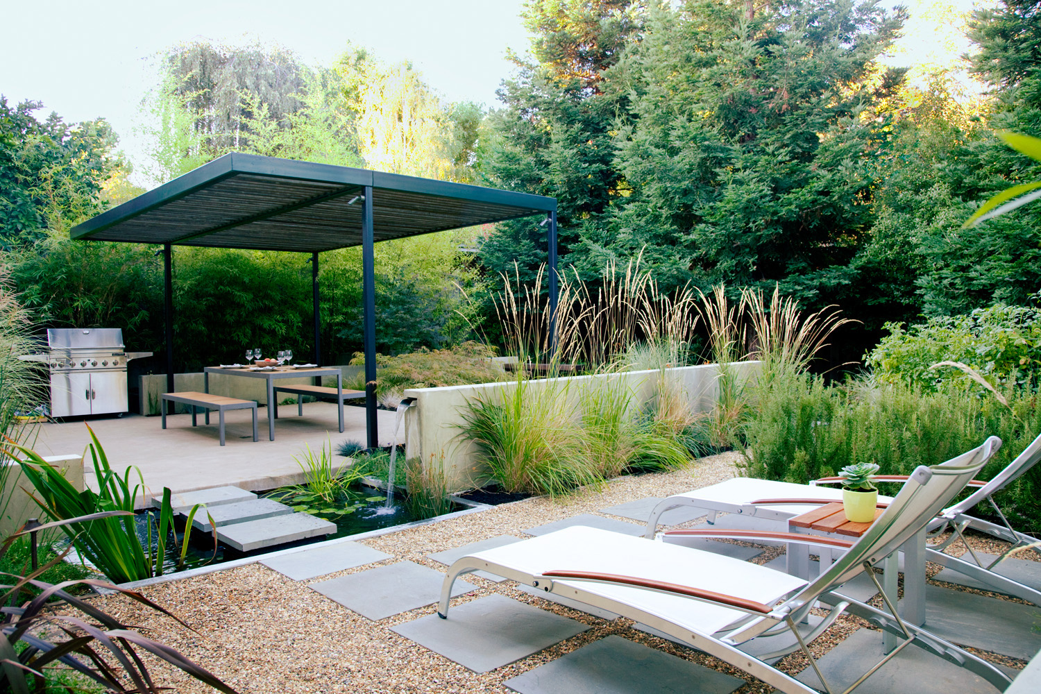 How to create 4 outdoor rooms in a small backyard sunset for Big back garden designs