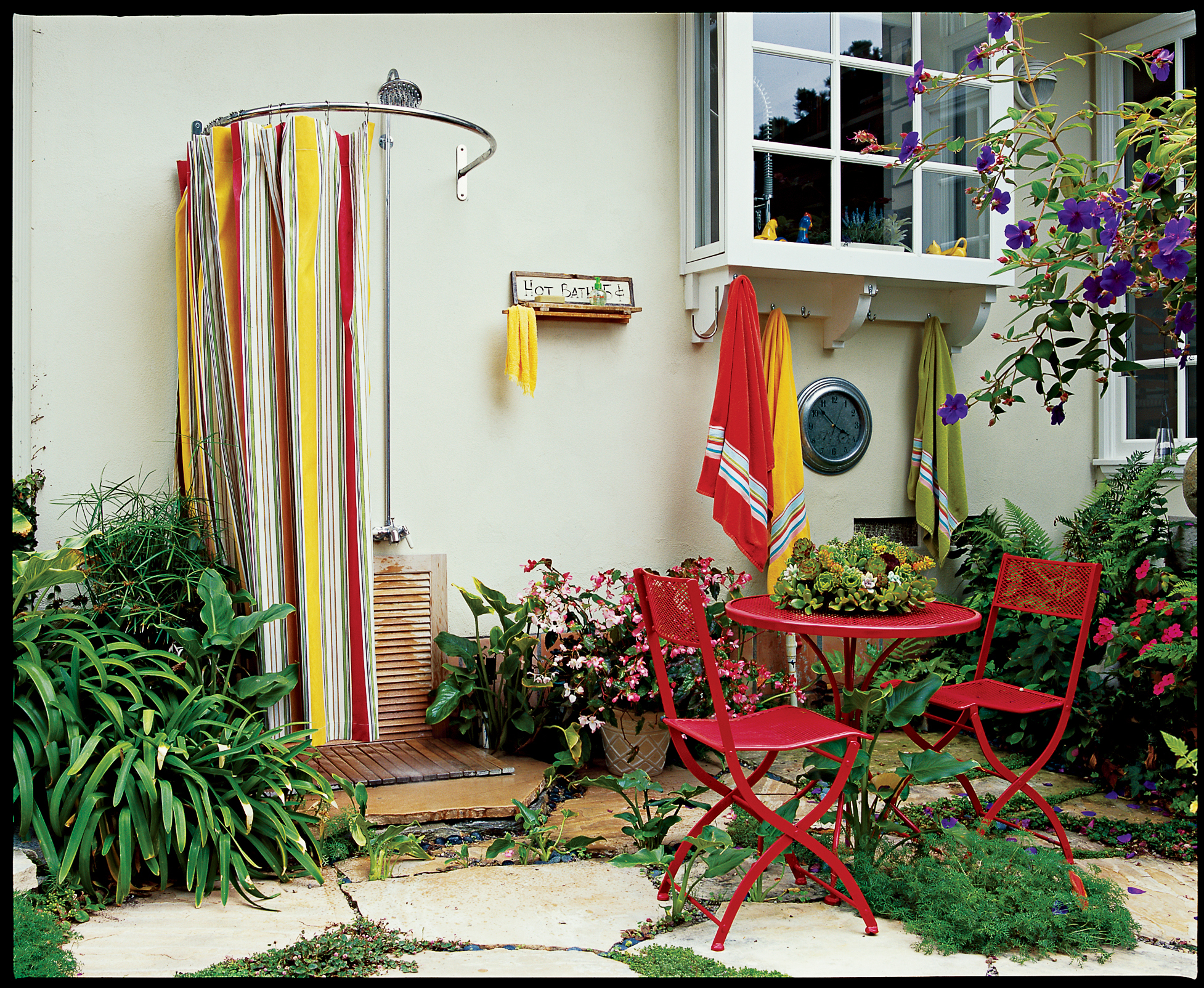 Teak Outdoor Shower Enclosure