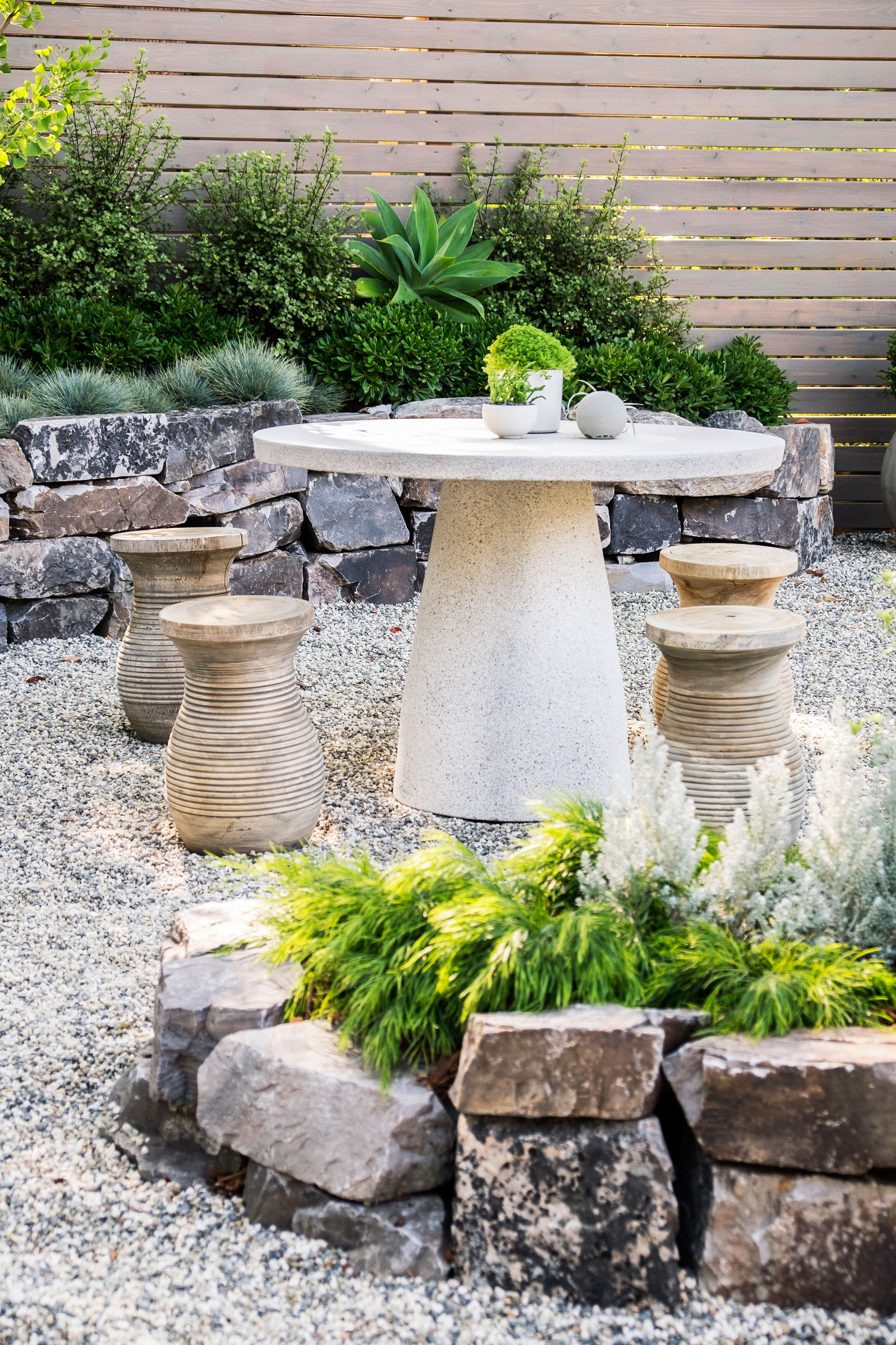 Zen Garden Design Ideas How to design a low water zen garden sunset magazine enclose outdoor dining sisterspd