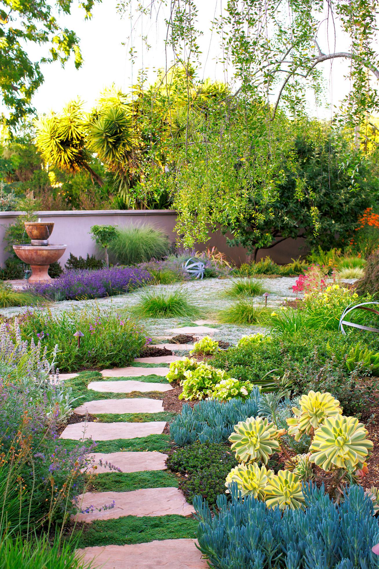 water wise garden designs. Case study  Wild romantic Water Wise Garden Design Guide Sunset Magazine