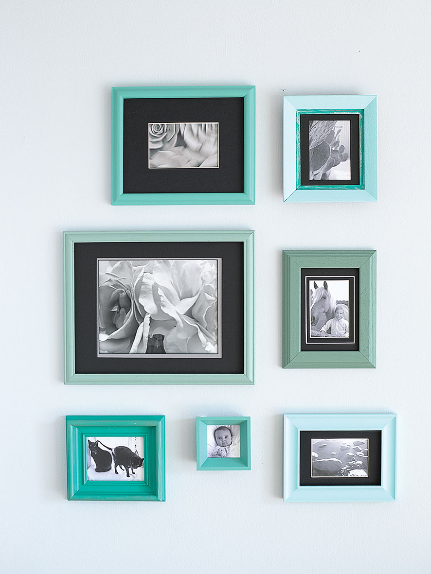 Colorfully Framed Photos for Your Bathroom Wall