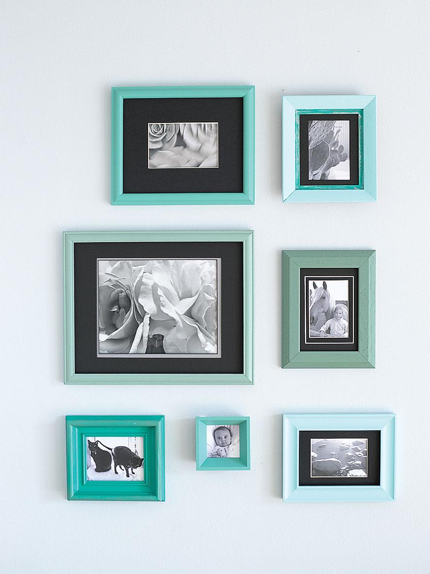 Colorfully framed photos for your bathroom wall sunset magazine colorfully framed photos for your bathroom wall jeuxipadfo Images
