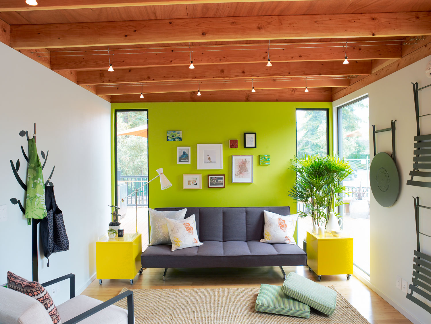 Bright accent wall