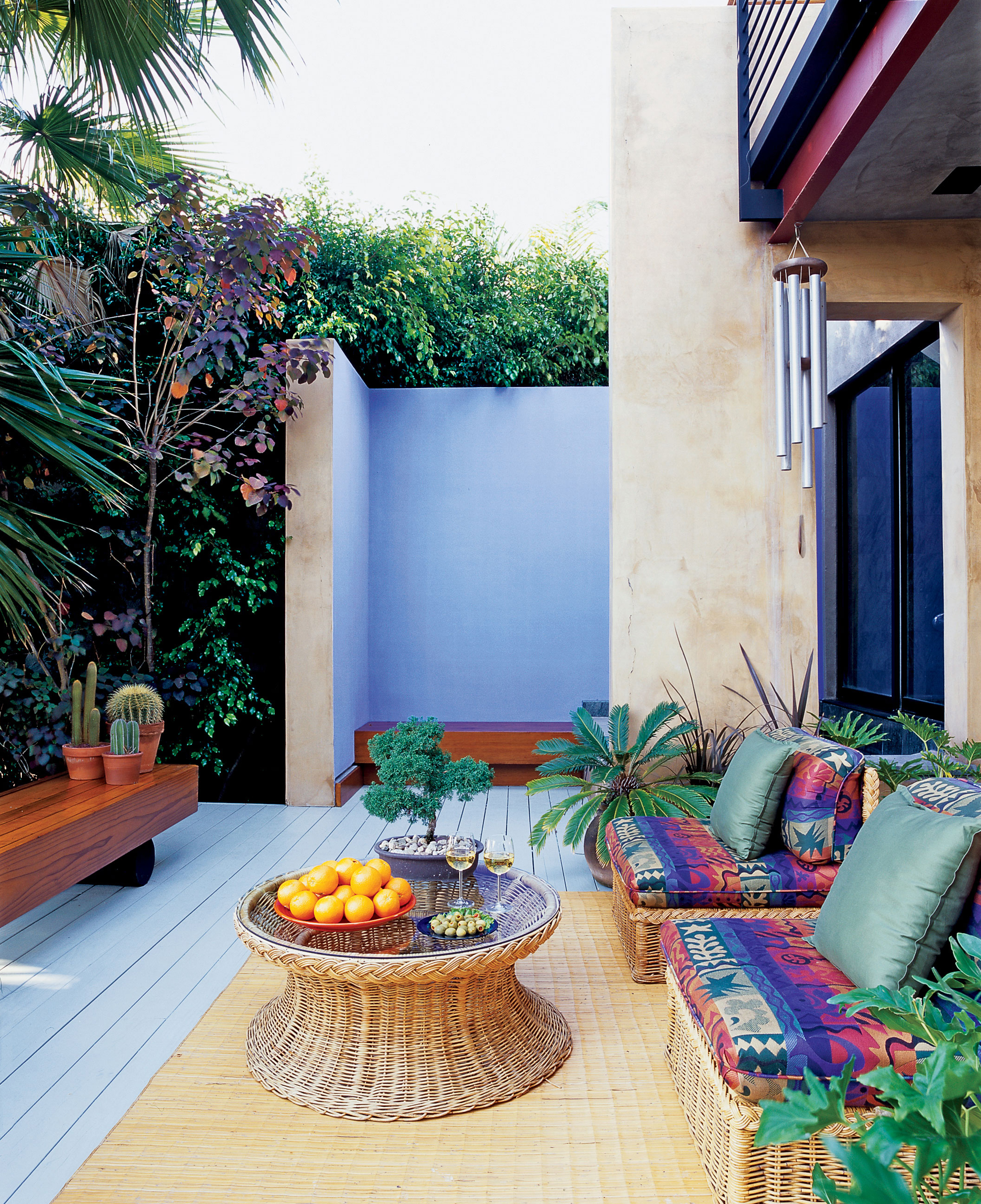 Outdoor Sitting Area And Spa
