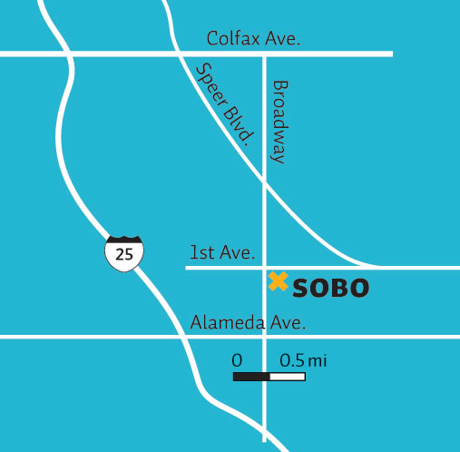 South Broadway map