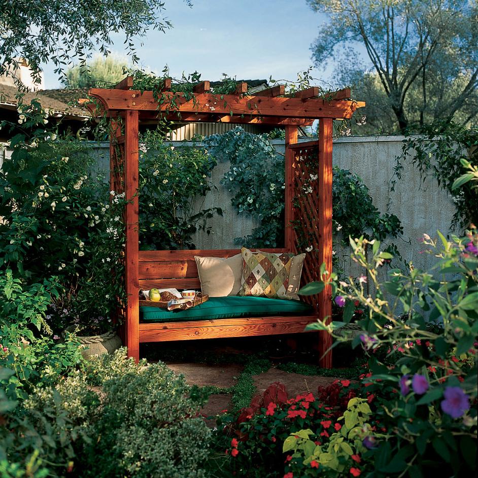 Garden Arbor Bench - Sunset Magazine