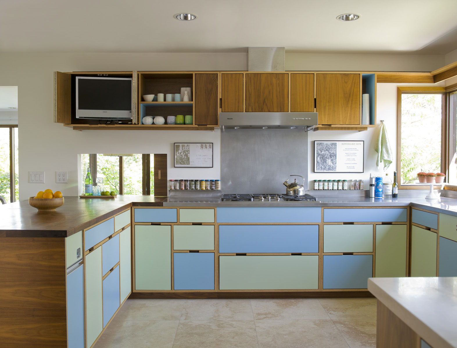 wooden kitchen cabinets 10 favorite colorful kitchens sunset magazine 29466