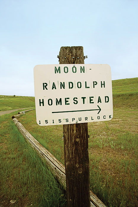 Moon-Randolph Homestead Sign in Missoula, Montana