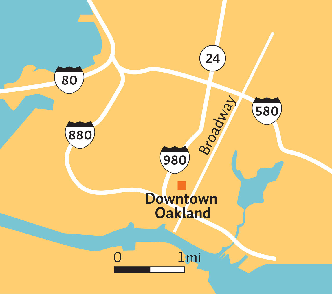Downtown Oakland map