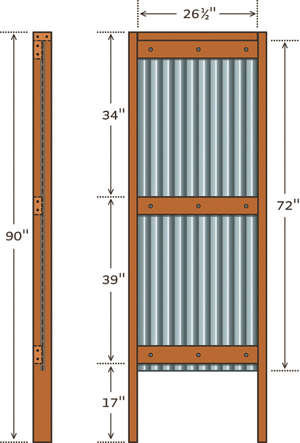diy outdoor shower frame