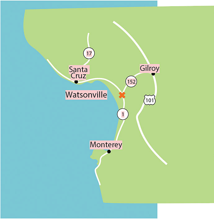 Watsonville map
