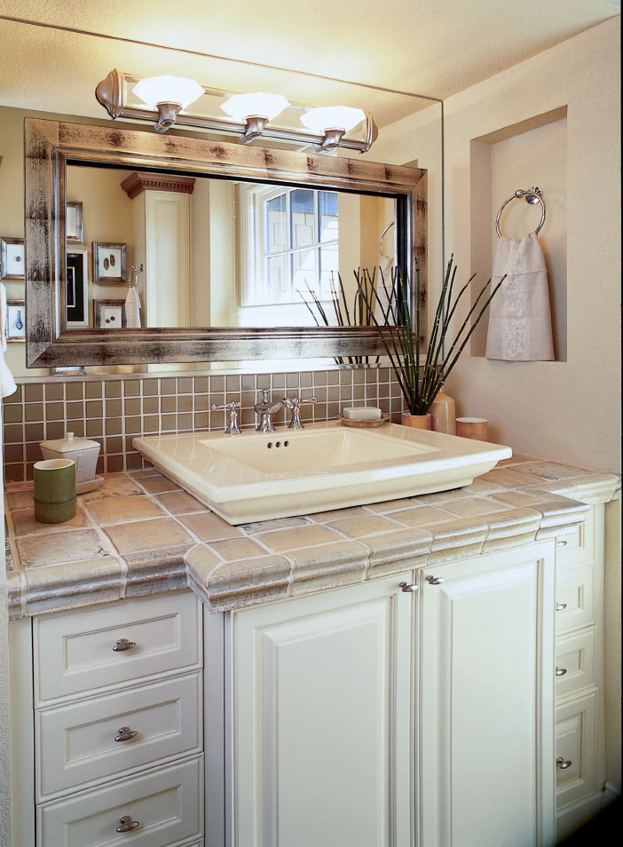 Repaint Your Bathroom Vanity Cabinets