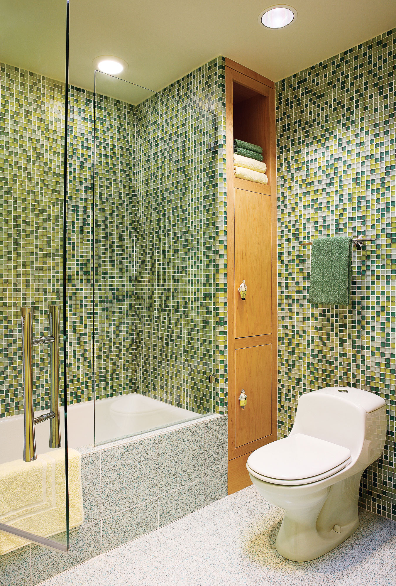 13 creative bathroom tile ideas sunset magazine mosaic shower wall dailygadgetfo Choice Image