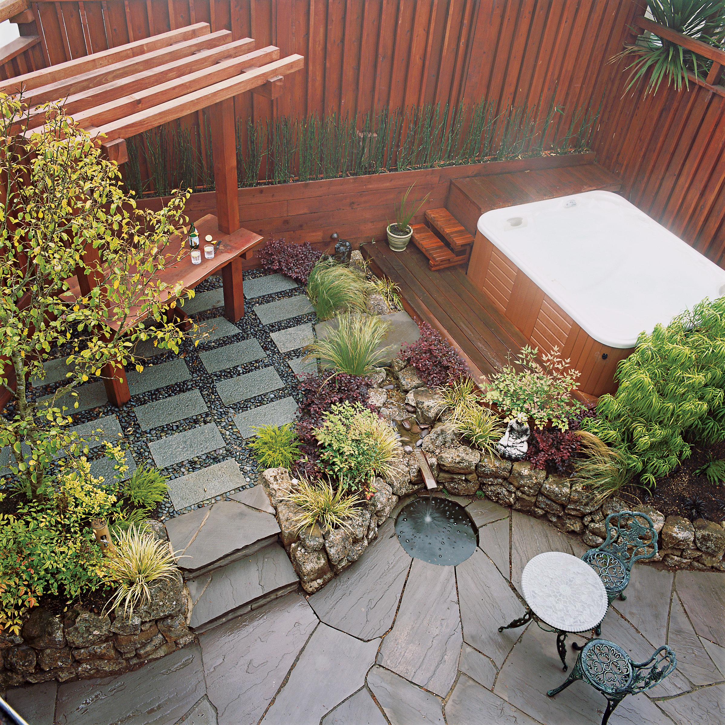 Small Garden Secrets - Sunset Magazine - Sunset Magazine on Small Landscape Garden Design  id=62266