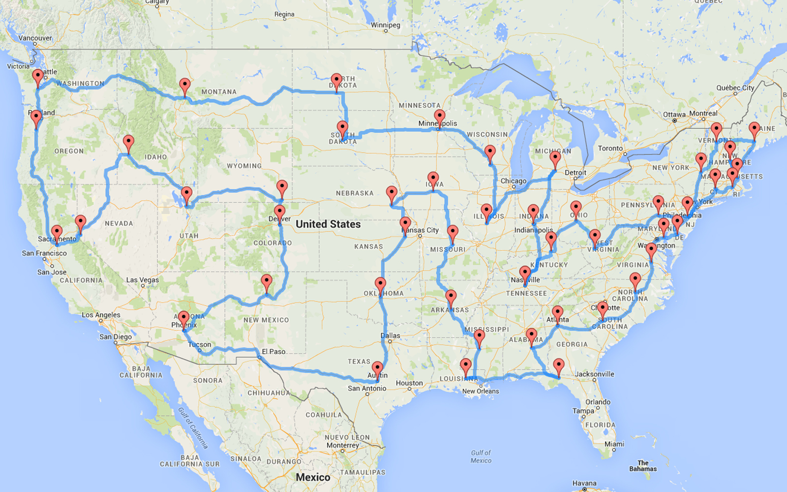 Picture of: This Man Planned The Most Efficient U S Road Trip Of All Time Sunset Magazine