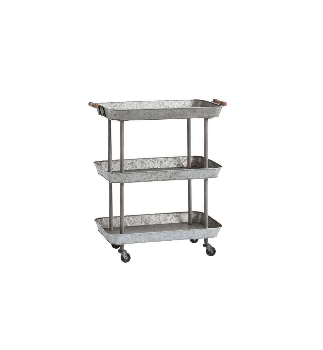 Rainier Galvanized Storage Cart
