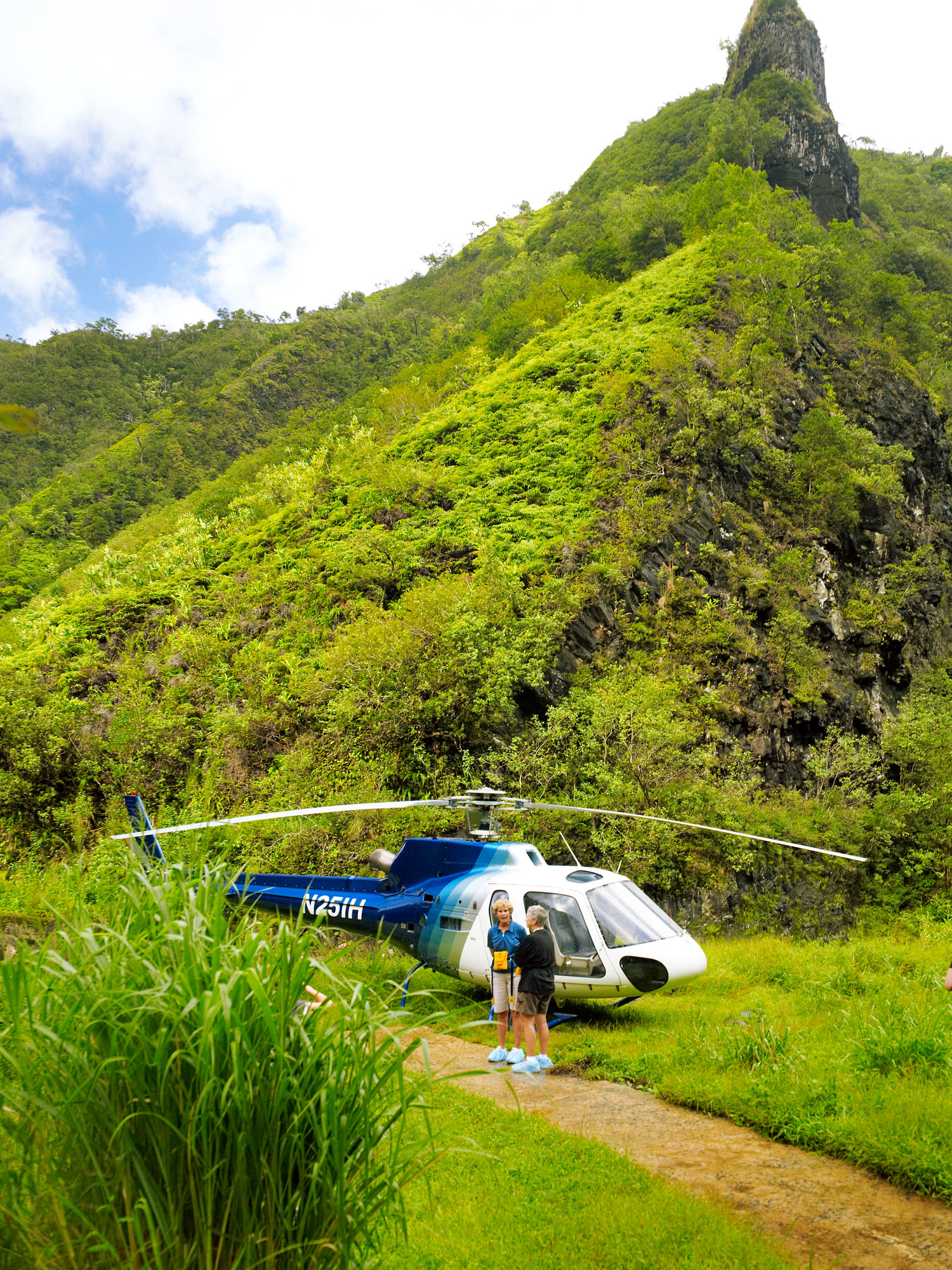 Island Helicopters' Jurassic Falls Landing Adventure