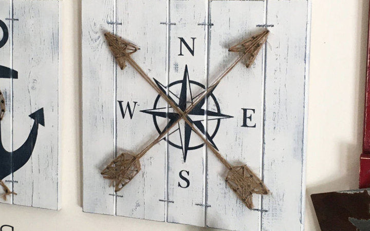 Handmade Compass Wall Art