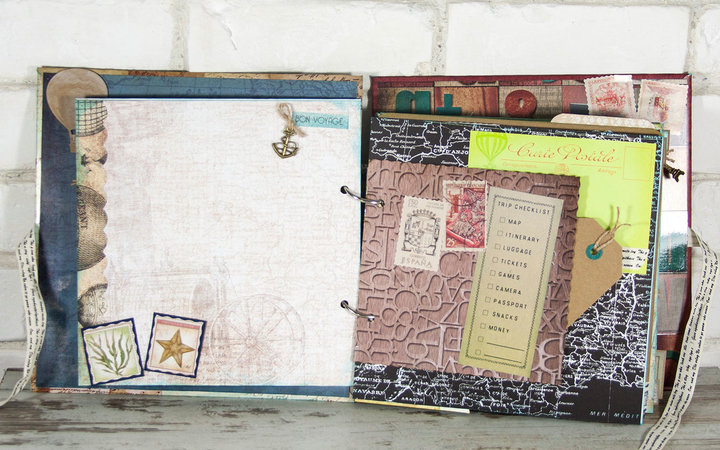Handmade Travel Scrapbook