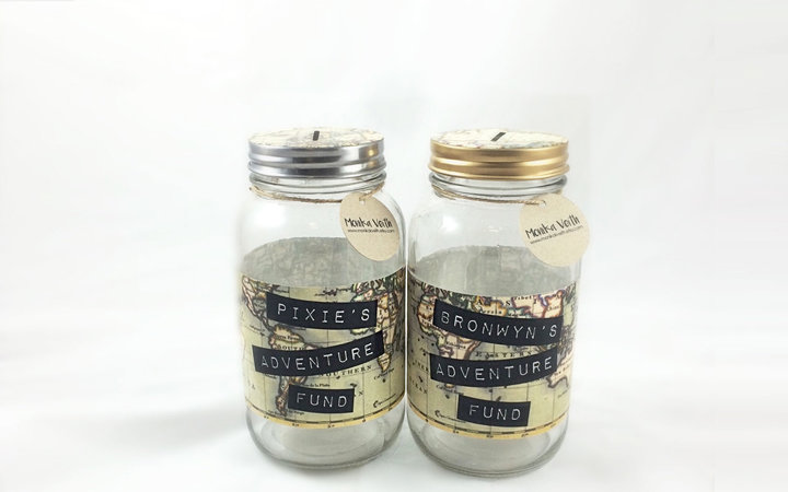 Travel Mason Jar Piggy Bank