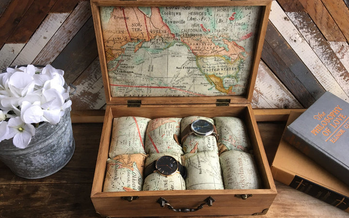 World Map Watch Case