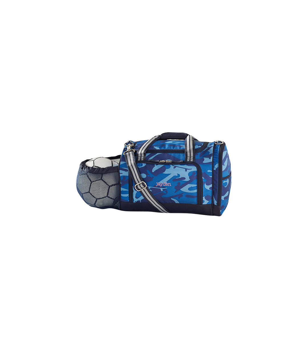 Navy Skateboard Camo Sports Duffle Bag
