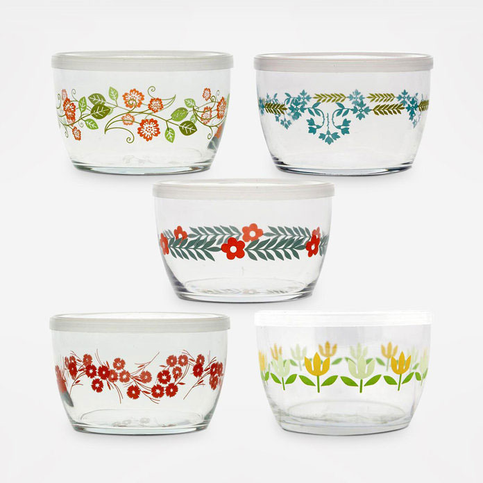Fish's Eddy Vintage Flower Storage Bowl Set