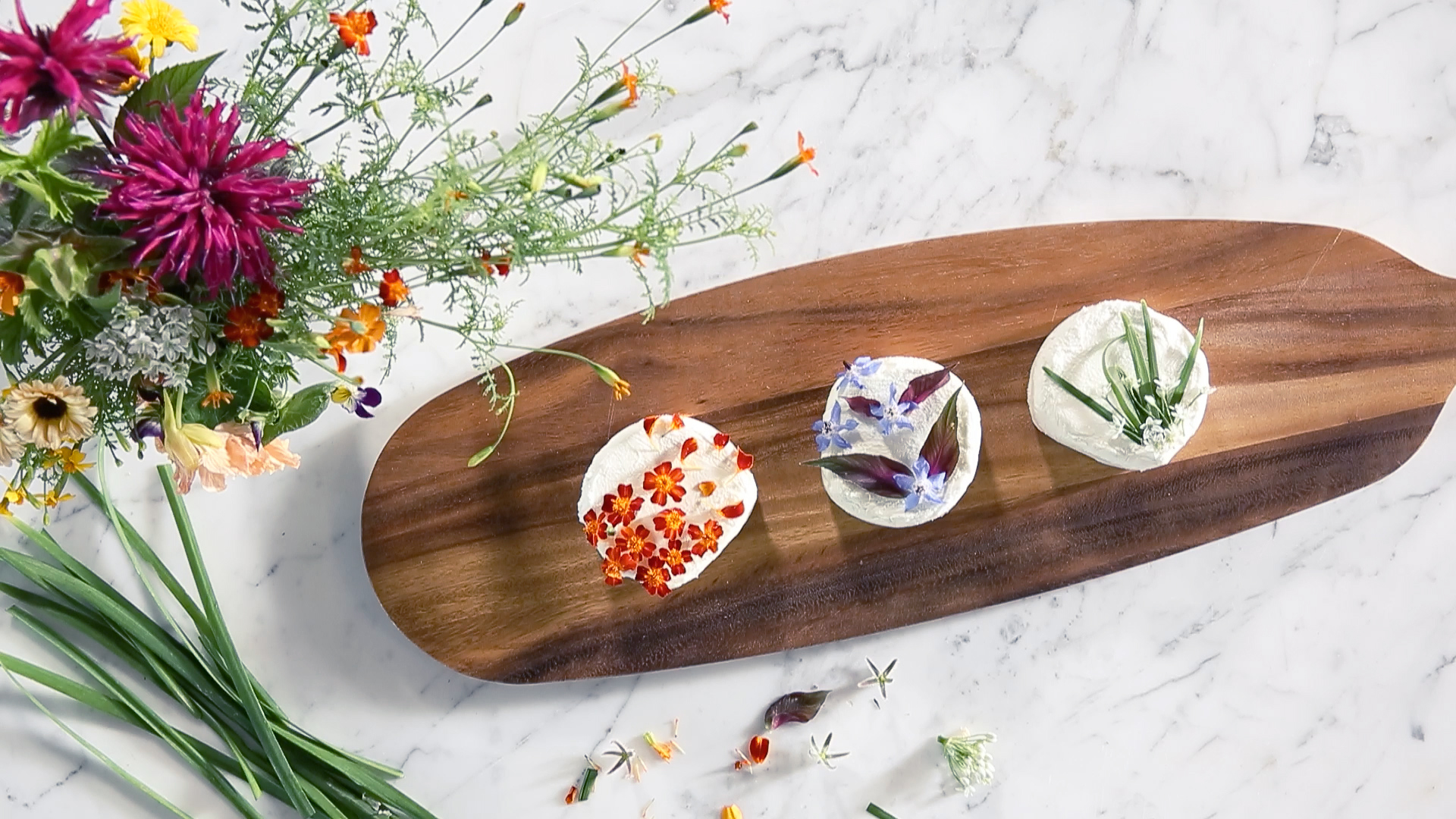 How to Make a Floral Cheese Plate