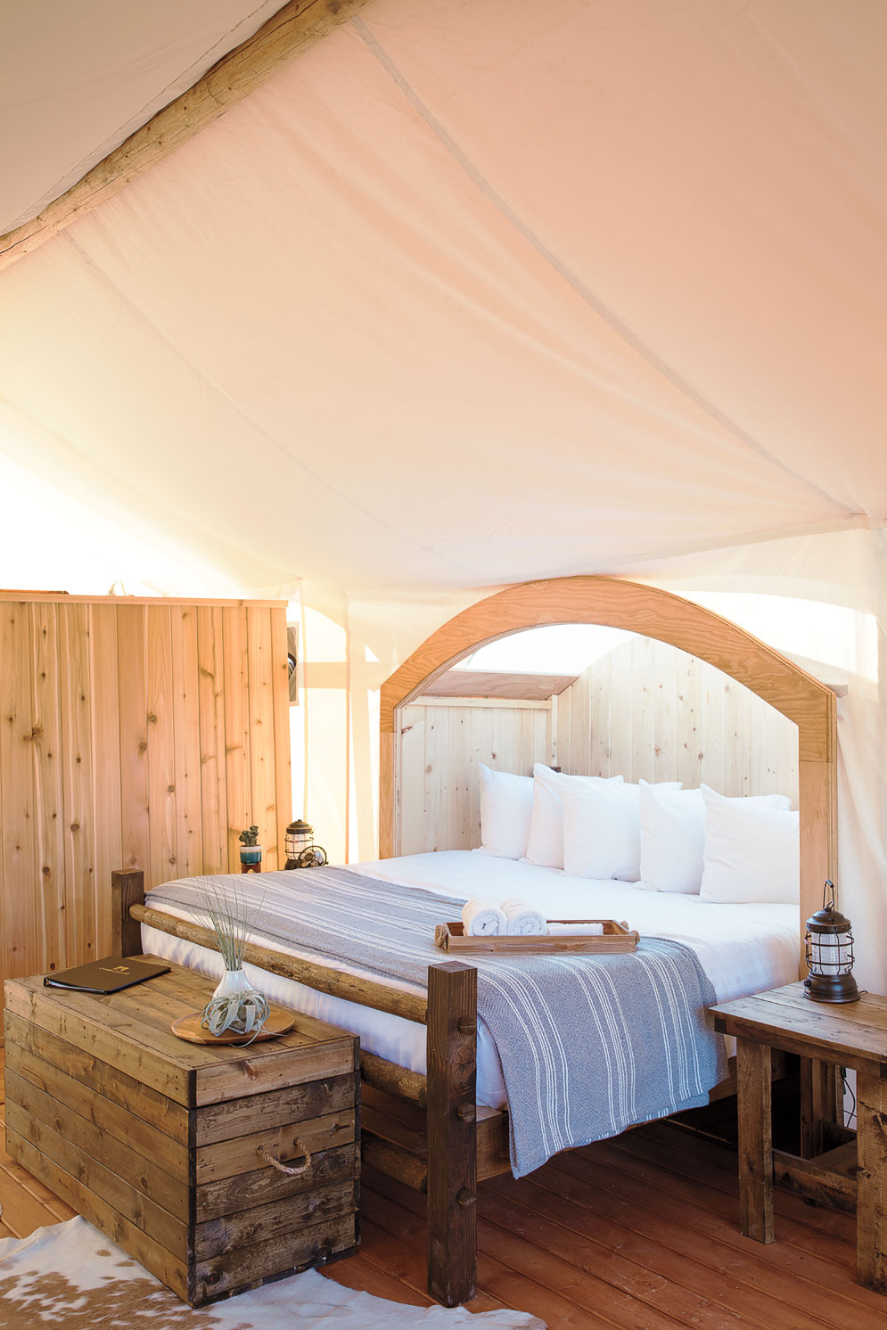 Under Canvas Zion Glamping Tent