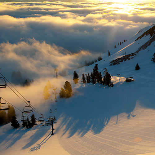 Cable car to squaw valley 39 s high camp sunset magazine - High camp swimming pool squaw valley ...