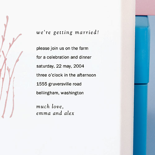 Wedding invitation No. 1: The layered look