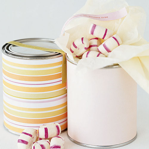 DIY wedding favor No. 3: Wrapped canisters