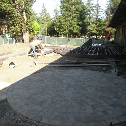 Circle patio complete