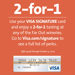 Special 2-for-1 Perk from Visa Signature