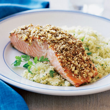 Almond And Spice Crusted Grilled Salmon Recipe Sunset Magazine