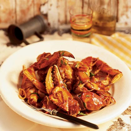 Cracked Crab with Tamarind Sauce