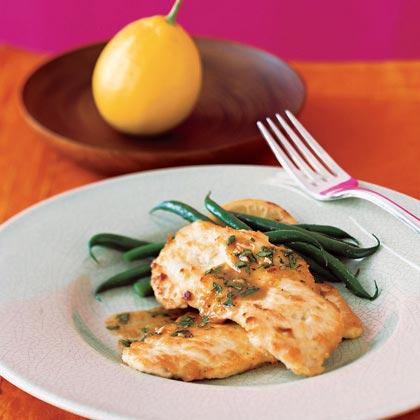 Lemon-Cilantro Chicken Scaloppine