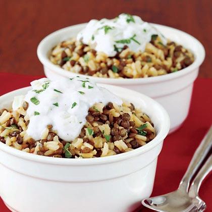 Lentil and Rice Pilaf