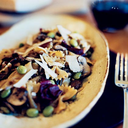 Shiitake-Ginger Pasta Salad with Radicchio