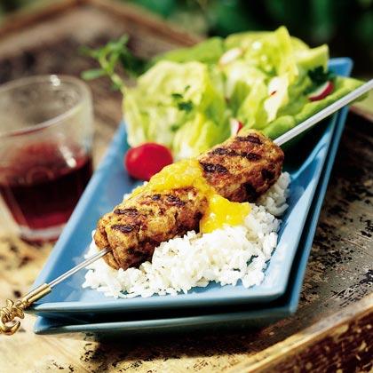 Turkey-Beef Kebabs